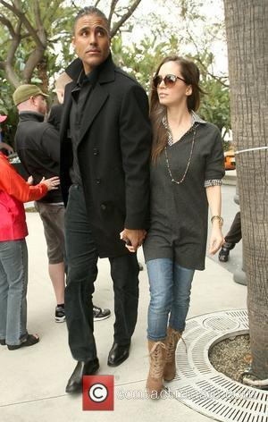 Rick Fox and Eliza Dushku,  arriving at the Staples Center for the Los Angeles Lakers against Denver Nuggets NBA...