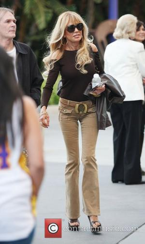 Dyan Cannon Celebrities arrive at The Staples Center for Game 1 of the NBA Western Conference Semi-Finals between LA Lakers...