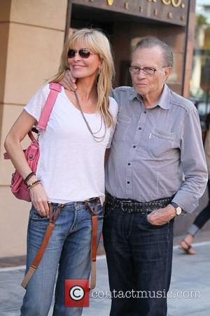 Shawn King and Larry King leave a medical building in Beverly Hills Los Angeles, California - 09.09.11