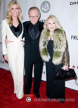 Shawn King, Larry King and Joan Rivers Larry King is honored at the 2011 Friars Club Testimonial dinner gala at...