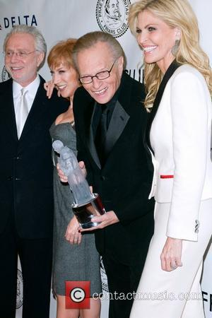 Kathy Griffin, Larry King and Shawn King