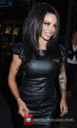 Jodie Marsh the former glamour model and current bodybuilder arrives at RTE studios for 'The Late Late Show' Dublin, Ireland...