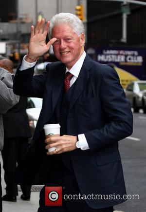 Former US President Bill Clinton 'The Late Show with David Letterman' at the Ed Sullivan Theater - Arrivals  New...
