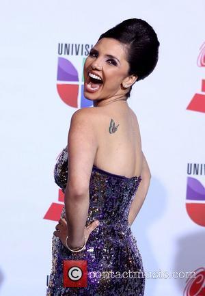 Karen Hoyos  2011 Latin Grammy's at Mandalay Bay Resort and Casino Las Vegas - Arrivals Las Vegas, Nevada -...