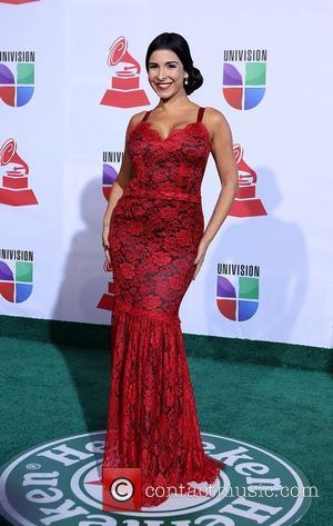 Mayra Veronica  2011 Latin Grammy's at Mandalay Bay Resort and Casino Las Vegas - Arrivals Las Vegas, Nevada -...