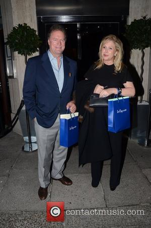 Rick Hilton and Kathy Hilton at a private dinner celebrating the 30th anniversary of London restaurant, Le Caprice London, England...