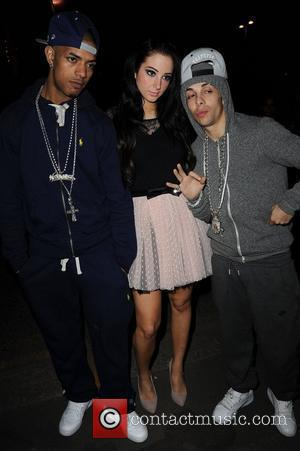 Richard 'Fazer' Rawson, Tula 'Tulisa' Contostavlos and Dino 'Dappy' Contostavlos from N-Dubz,  at the Leadmill for their aftershow party....