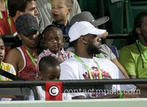 Lebron James and his family attend The 2011 Sony Ericsson Open at Crandon Park Tennis Center Florida, USA - 26.03.11