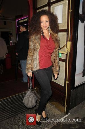 Natalie Gumede of Coronation Street,  arriving at the press night for the new production of Legally Blonde at the...