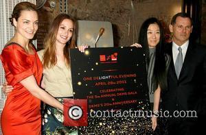 Katharina Harf, Bernd Beetz, Leighton Meester and Vera Wang