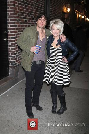 Joshua Scott Jones and Meghan Linsey, of Steel Magnolia at The Ed Sullivan Theater for 'The Late Show with David...