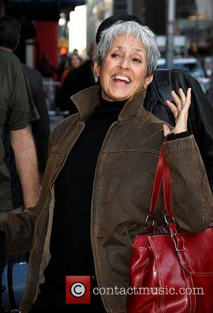 Joan Baez,  at the Ed Sullivan Theater for the 'Late Show With David Letterman' New York City, USA -...