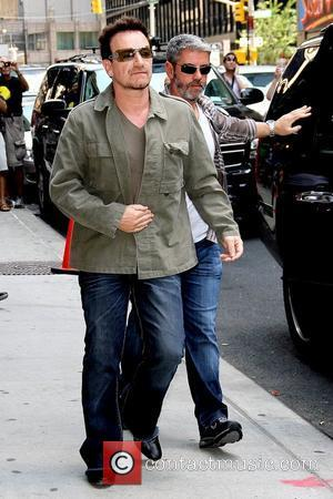 Paul David Hewson a.k.a Bono  arriving at 'The Late Show with David Letterman' at the Ed Sullivan Theater...