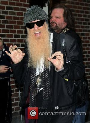 Billy Gibbons of ZZ Top arriving at the Ed Sullivan Theater for 'The Late Show with David Letterman'. New York...
