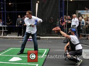 Josh Hamilton of Texas Rangers Celebrities outside The Ed Sullivan Theater for 'The David Letterman Show'  New York City,...