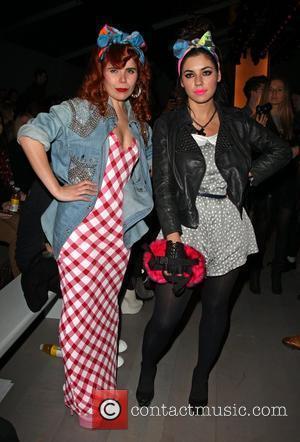 Paloma Faith and Marina Diamandis of Marina and the Diamonds London Fashion Week A/W 2011 - Ashish- Front Row London,...