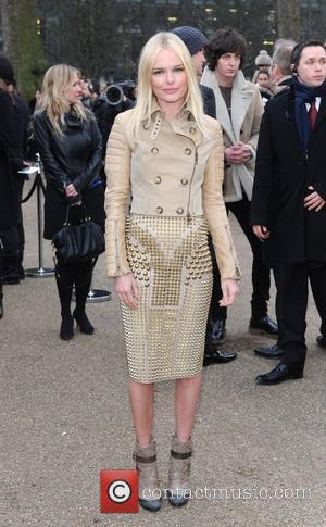 Kate Bosworth LFW: Burberry Prorsum a/w fashion show - arrivals held at the Kensington Gardens. London, England - 21.02.11