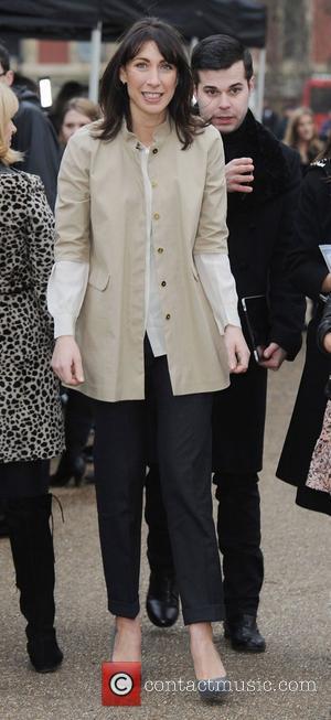 Samantha Cameron London Fashion Week A/W 2011 - Burberry Prorsum - Arrivals held at the Kensington Gardens