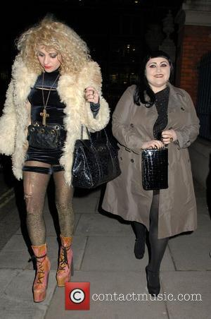 Beth Ditto London Fashion Week A/W 2011: Get A Life Palladium - Departures  London, England - 18.02.11