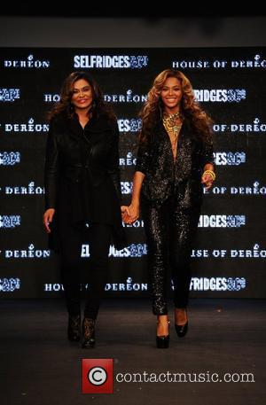 Tina Knowles, Beyonce Knowles and London Fashion Week