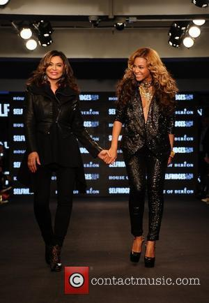 Tina Knowles, Beyonce London Fashion Week Spring/Summer 2012 - House of Dereon- Runway London, England- 17.09.11