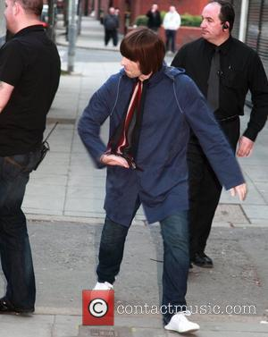Liam Gallagher arriving at the Belfast Ulster hall for the Beady Eye concert Belfast, Northern Ireland - 17.04.11