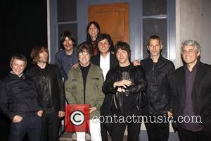 Chris Sharrock, Liam Gallagher, Joe Bithorn, David Leon, Joe Bologna, Joey Curatolo, Steve Landes, Gem Archer, Andy Bell and Mark...