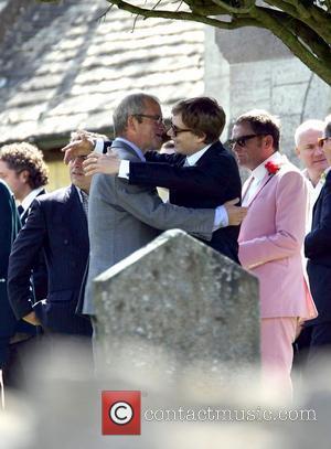 Harry Enfield and Alfie Allen  The wedding of Lily Allen and Sam Cooper Cranham, Gloucestershire - 11.06.11