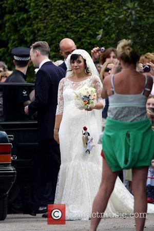 Lily Allen arriving  The wedding of Lily Allen and Sam Cooper Cranham, Gloucestershire - 11.06.11
