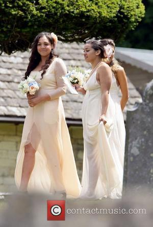 Miquita Oliver and other bridesmaids  The wedding of Lily Allen and Sam Cooper Cranham, Gloucestershire - 11.06.11