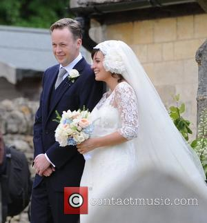 Lily Allen and Sam Cooper leaving the church The wedding of Lily Allen and Sam Cooper Cranham, Gloucestershire - 11.06.11