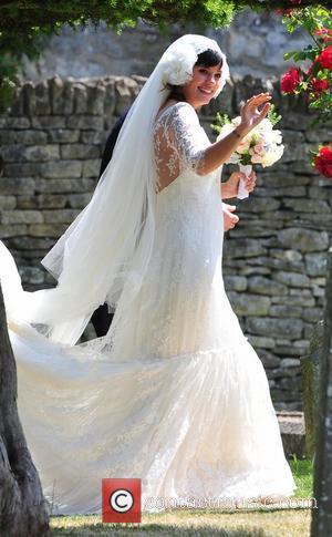 Lily Allen arriving for her wedding to Sam Cooper Cranham, Gloucestershire - 11.06.11