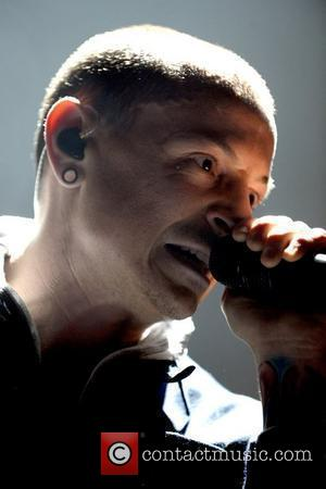 Chester Bennington  Rock band 'Linkin Park' performing live at The Air Canada Centre.  Toronto, Canada - 08.02.11