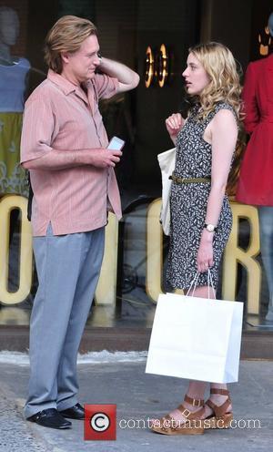 Bill Pullman and Greta Gerwig on the set of their new film 'Lola Versus' New York City, USA - 01.07.11