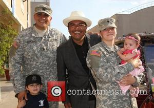 George Lopez and US Army Soldiers,  The Lopez Foundation celebrates 4th of July with fireworks and a salute to...