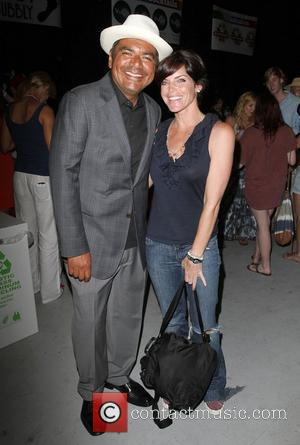 George Lopez and Lesli Kay