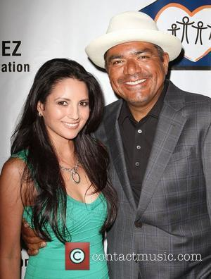 George Lopez and Cindy Vela,  The Lopez Foundation celebrates 4th of July with fireworks and a salute to our...