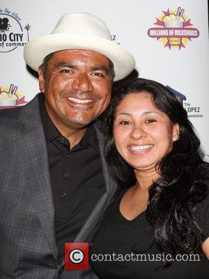 George Lopez and Glenda Melendez,  The Lopez Foundation celebrates 4th of July with fireworks and a salute to our...