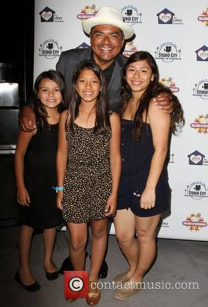 George Lopez and The Melendez Girls,  The Lopez Foundation celebrates 4th of July with fireworks and a salute to...
