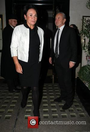 Lord Alan Sugar leaves Scott's restaurant in Mayfair with his wife Ann London, England - 12.02.11