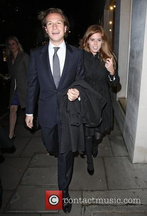 Dave Clark and Princess Beatrice,  at a private dinner for the Elton John Aids Foundation held at Louis Vuitton...