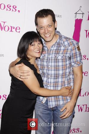 Ann Harada and John Tartaglia After party celebrating the new cast of the Off-Broadway production of 'Love, Loss and What...