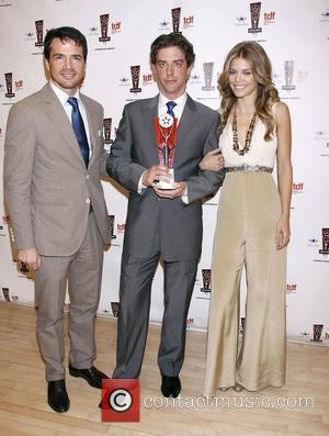 Matthew Settle, Annalynne Mccord and Christian Borle