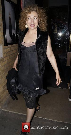 Alex Kingston,  at the press night of Mike Poulton's new production of 'Luise Miller' at The Donmar Warehouse. London,...