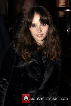 Felicity Jones ,  at the press night of Mike Poulton's new production of 'Luise Miller' at The Donmar Warehouse....