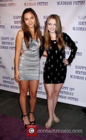 Stella Hudgens, Sammi Hanratty Madison Pettis's 13th birthday party at Eden - Arrivals Los Angeles, California, USA - 31.07.11