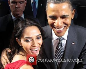 Mallika Sherawat and U.S President Barack Obama The Bollywood film star met with U.S President Barack Obama during his campaign...