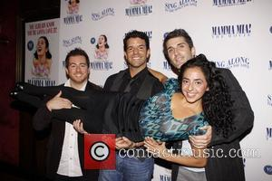 John Erik Goldberg, Tony Gonzalez, Ryan Sander and Sharone Sayegh Celebrating the 10th anniversary of the Broadway musical MAMMA MIA!...