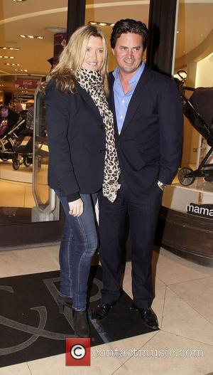 Tina Hobley and Oliver Wheeler Mamas & Papas - 30th anniversary party held at Mamas & Papas store, Regent Street...