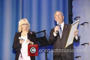 Judy Craymer and Mayor Michael Bloomberg  10th Broadway Anniversary of the musical 'Mamma Mia!' at the Winter Garden Theatre...